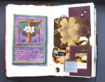 26 Tahiti illuminated letter and collage