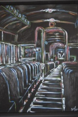 Diane Harrison 'Night Train' 16x20 pastel n acrylic