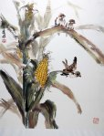 Corn Chinese painting