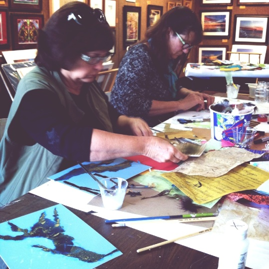 Creativity was in the air at our last Collage Play Date!