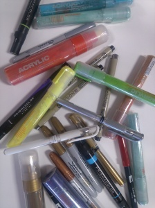 assorted markers