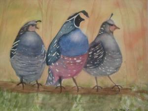 Betty Scanlan- Three Quail