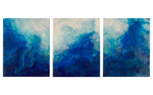 Sheri Marcus - Turbulence, tryptic 24x10
