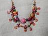 LaurelCarlisle_PinkandOrangeNecklace_polymer clay