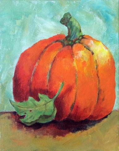 Hilda Vandergriff Acrylic Pumpkin