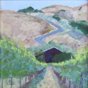 Mike Bauer - Vineyard Paths - Pastel