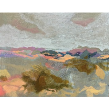 "Hilary Jacks - ""Color Study, Irish Hills toward Avila"""