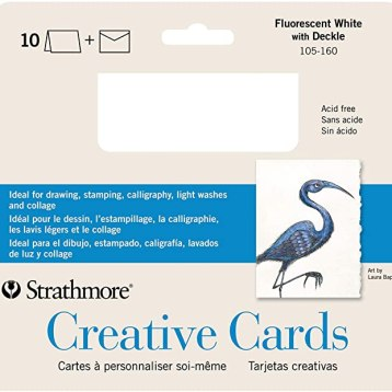 strathmore fl wht with deckle cards
